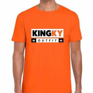 Oranje kingky outfit t shirt heren