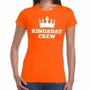 Oranje kingsday crew t shirt dames