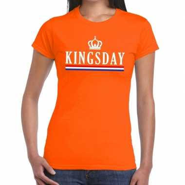 Oranje kingsday hollandse vlag t shirt dames