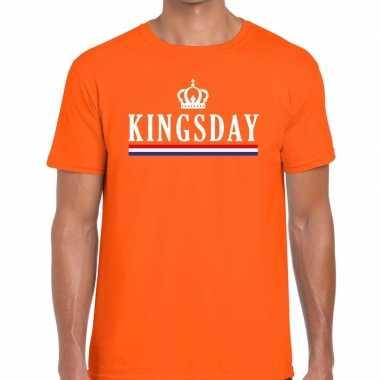 Oranje kingsday hollandse vlag t shirt heren
