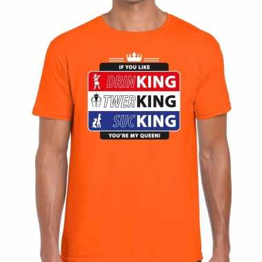 Oranje kingsday if you like shirt heren