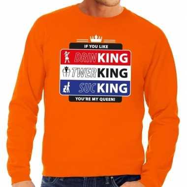 Oranje kingsday if you like sweater heren