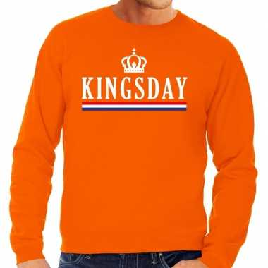 Oranje kingsday sweater heren