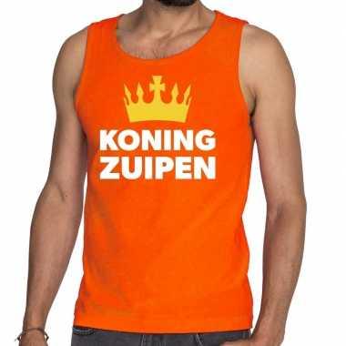 Oranje koning zuipen tanktop / mouwloos shirt he