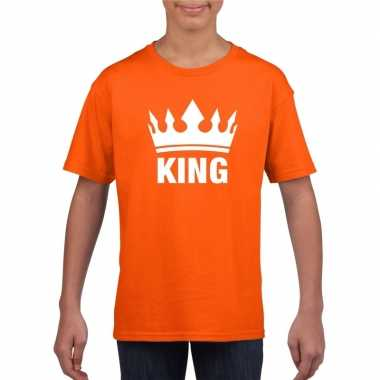 Oranje koningsdag king shirt kroon jongens