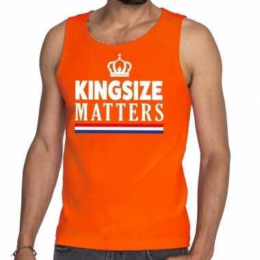 Oranje koningsdag kingsize matters tanktop heren
