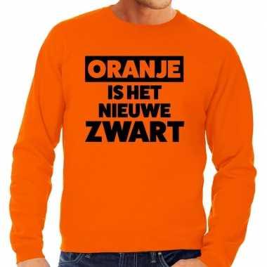 Oranje koningsdag oranje is nieuwe zwart sweater heren