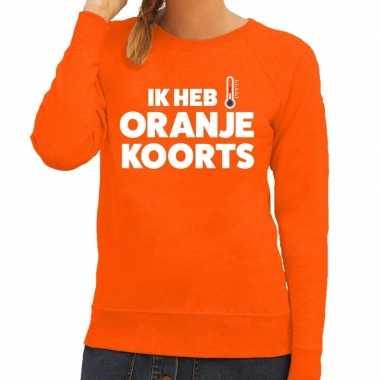 Oranje koningsdag oranje koorts sweater dames