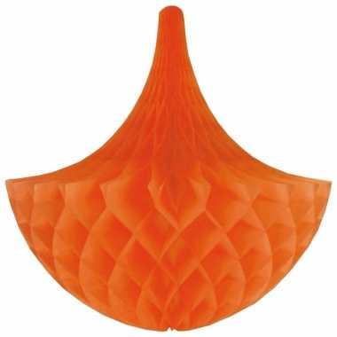 Oranje kroonluchter versiering 35