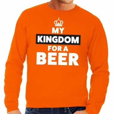 Oranje my kingdom for a beer sweater heren
