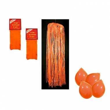 Oranje pakket brandvertragend