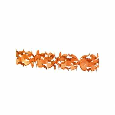 Oranje papieren slinger