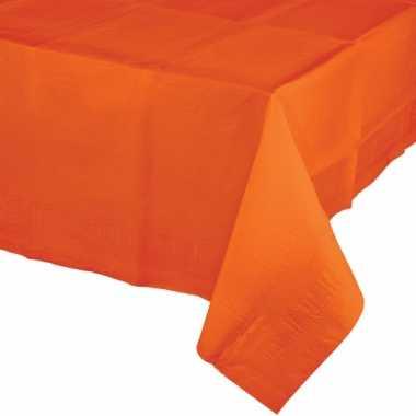 Oranje papieren tafelkleed 137 274