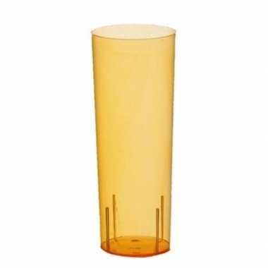 Oranje plastic glazen