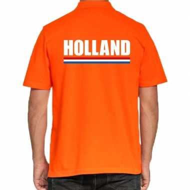 Oranje poloshirt holland heren