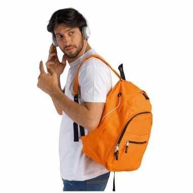 Oranje polyester reistas 38 volwassenen