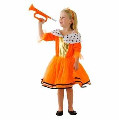 Oranje prinsessen jurk meisjes