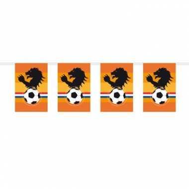 Oranje rechthoekige vlaggenlijn