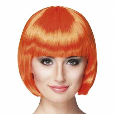 Oranje sexy damespruik