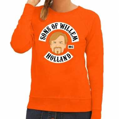 Oranje sons of willem sweater dames
