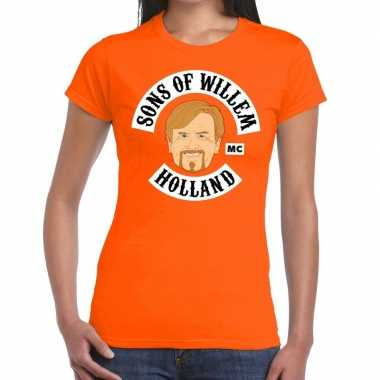 Oranje sons of willem t shirt dames