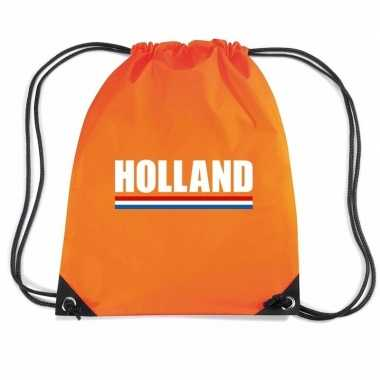 Oranje sporttas rijgkoord holland supporter