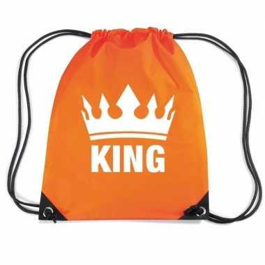 Oranje sporttas rijgkoord king
