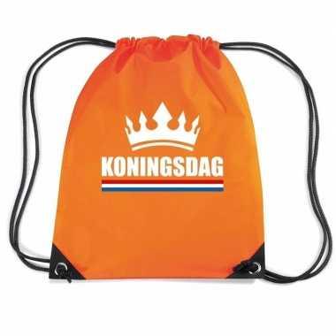 Oranje sporttas rijgkoord koningsdag