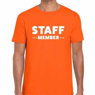 Oranje staff member shirt heren