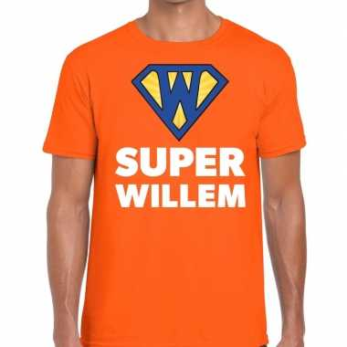 Oranje super willem t shirt heren