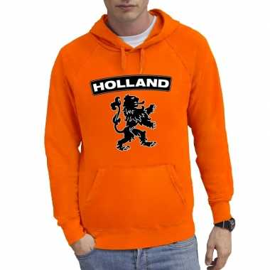 Oranje sweater capuchon holland leeuw heren