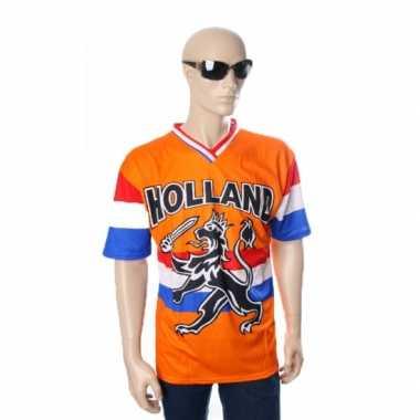Oranje t shirt hollandse leeuw hollandse vlag