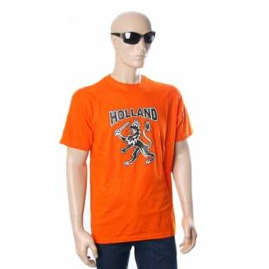 Oranje t shirt hollandse leeuw