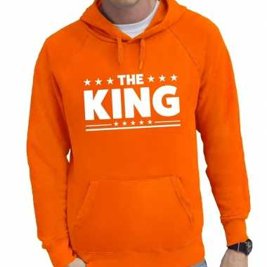 Oranje the king hoodie heren