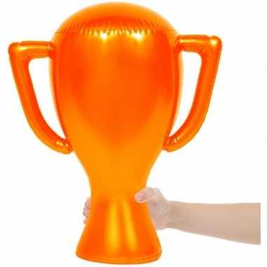 Oranje trofee opblaasbaar
