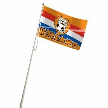 Oranje vlag 100x150 voetbal