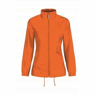 Oranje zomerjack dames