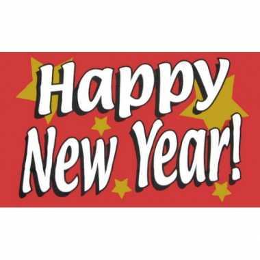 Oud nieuw vlag happy new year!