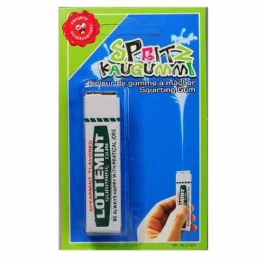 Pakje kauwgom waterspuit
