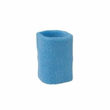Pols zweetbandjes lichtblauw