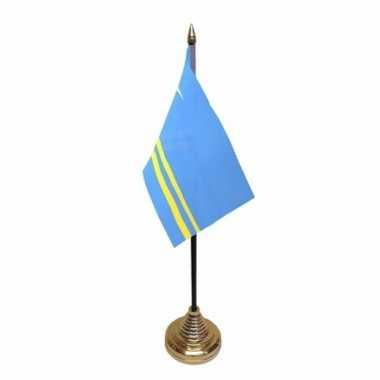 Polyester arubaanse vlag bureau 10 15