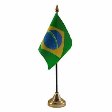 Polyester braziliaanse vlag bureau 10 15
