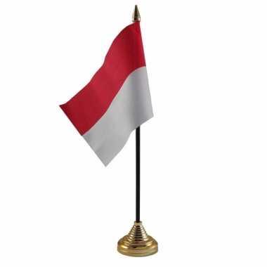 Polyester indonesische vlag bureau 10 15