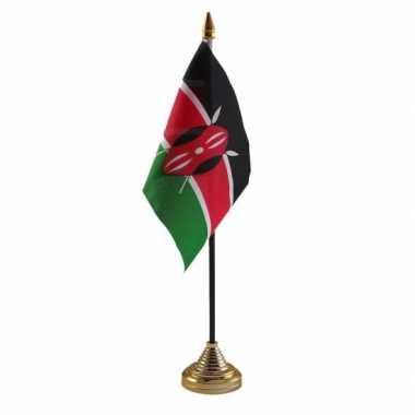 Polyester keniaanse vlag bureau 10 15
