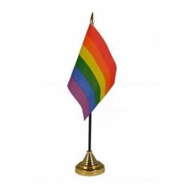 Polyester lgbt regenboog vlag bureau 10 15