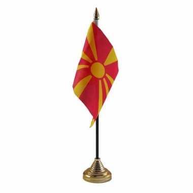 Polyester macedonische vlag bureau 10 15