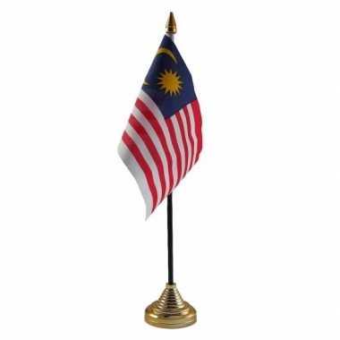 Polyester maleisische vlag bureau 10 15