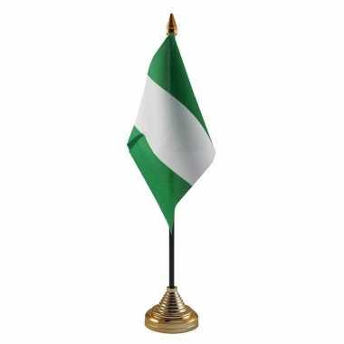Polyester nigeriaanse vlag bureau 10 15