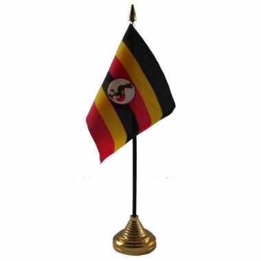 Polyester oegandese vlag bureau 10 15