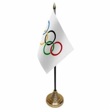 Polyester olympische vlag 10 15 tafel versiering